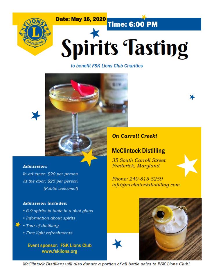 Spirits Tasting Image
