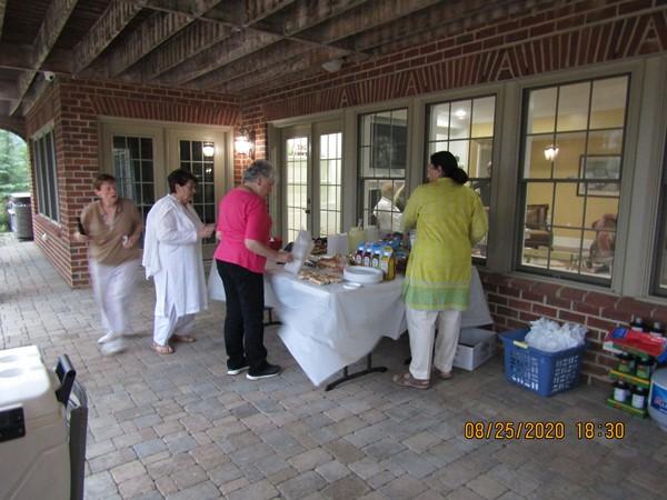 Lions Darlene Aulls and Sadia Anderabi, the Rev. Kay Rice, and Asma Anderabi. Image